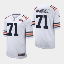Chicago Bears 71 Arlington Hambright Jersey NFL Draft hommes - Blanc