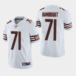 NFL Draft Chicago Bears 71 Arlington Hambright Vapor Limited Jersey Homme - Blanc