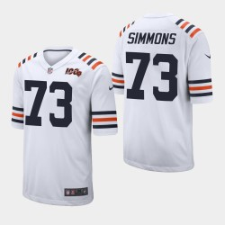NFL Draft Chicago Bears 73 Lachavious Simmons Maillot Homme - Blanc