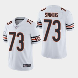 NFL Draft Chicago Bears 73 Lachavious Simmons Vapor Limited Jersey Homme - Blanc