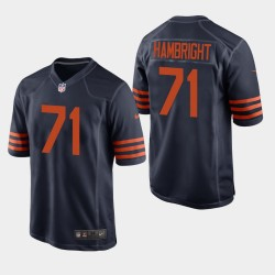 NFL Draft Chicago Bears 71 Arlington Hambright Throwback Jersey hommes - Marine