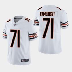 Chicago Bears 71 Arlington Hambright Draft NFL Throwback Jersey vapeur limitée hommes - Blanc