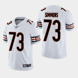 Chicago Bears 73 Lachavious Simmons Draft NFL Throwback Jersey vapeur limitée hommes - Blanc