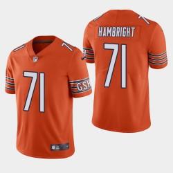 NFL Draft Chicago Bears 71 Arlington Hambright vapeur Limited Jersey Men - Orange