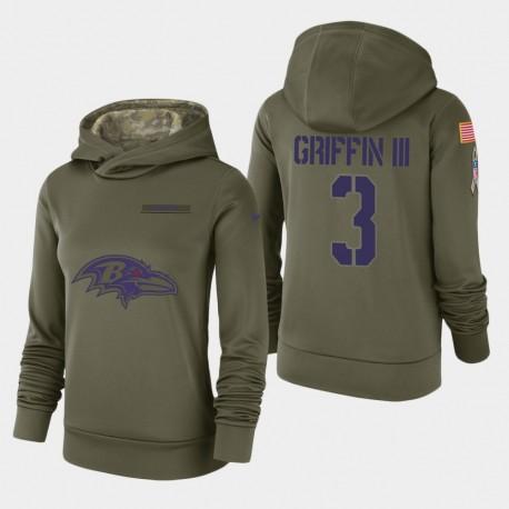 Ravens Robert Griffin III 2018 Salut à Service Sweat à capuche - Olive