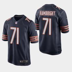 NFL Draft Chicago Bears 71 Arlington Hambright jeu Jersey hommes - Marine