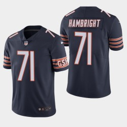 Chicago Bears 71 Arlington Hambright NFL Draft couleur Rush Limited Jersey hommes - Marine
