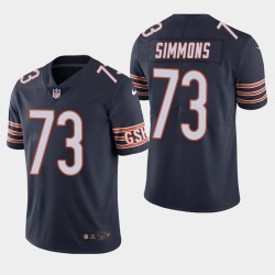 Chicago Bears 73 Lachavious Simmons NFL Draft couleur Rush Limited Jersey hommes - Marine