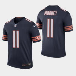 Chicago Bears 11 Darnell Mooney NFL Draft couleur Rush légende Jersey hommes - Marine