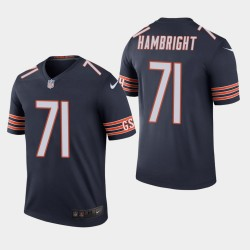 Chicago Bears 71 Arlington Hambright NFL Draft couleur Rush légende Jersey hommes - Marine