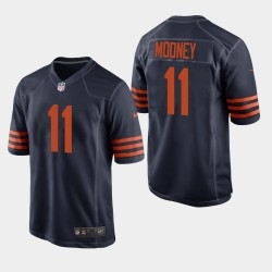 Chicago Bears 11 Darnell Mooney NFL Draft Throwback Jersey Hommes - Marine