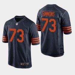 Chicago Bears 73 Lachavious Simmons Draft NFL Throwback Jersey hommes - Marine