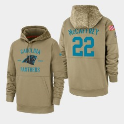 Christian McCaffrey Carolina Panthers 2019 Salut au service des hommes Sideline Therma Sweat à capuche - Tan