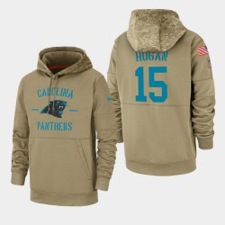 Chris Hogan Carolina Panthers 2019 Salut au service des hommes Sideline Therma Sweat à capuche - Tan
