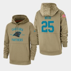 Eric Reid Carolina Panthers 2019 Salut au service des hommes Sideline Therma Sweat à capuche - Tan