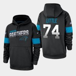 Carolina Panthers Hommes 74 Greg Petit 100e saison Sideline équipe Logo Sweat à capuche - Noir