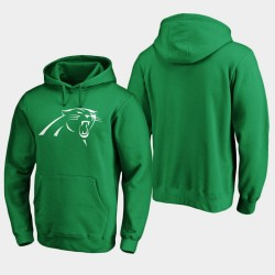 Carolina Panthers 2020 hommes blancs de la Saint-Patrick Logo Sweat à capuche - vert