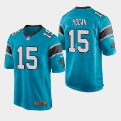Carolina Panthers Hommes 15 Chris Hogan Jeu Maillot - bleu