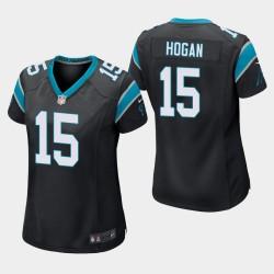 Carolina Panthers 15 femmes Chris Hogan jeu Maillot - Noir