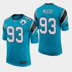 Carolina Panthers 93 hommes Gerald McCoy 25e saison classique Jersey limitée - Bleu