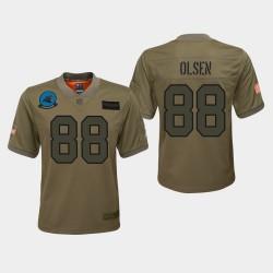 Jeunes Carolina Panthers 88 Greg Olsen 2019 Salut au service du jeu Jersey - Camo