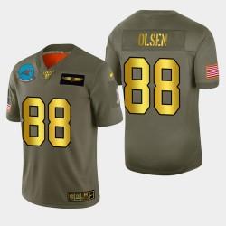 Carolina Panthers 88 hommes Greg Olsen 2019 Salut au service Metallic NFL Jersey 100