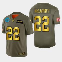 Carolina Panthers 22 hommes Christian McCaffrey 2019 Salut au service métallique NFL 100 Jersey