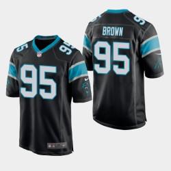 NFL Draft Panthers de la Caroline 95 Derrick Brown jeu Jersey hommes - Noir