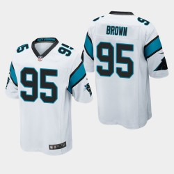 NFL Draft Panthers de la Caroline 95 Derrick Brown jeu Jersey hommes - Blanc