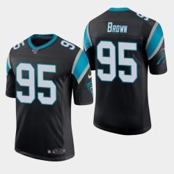 Carolina Panthers 95 Derrick Brown Draft NFL Jersey Hommes - Noir