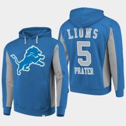 Lions Matt Prater équipe Iconic Sweat à capuche - Bleu