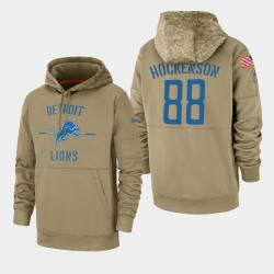 Men T.J. Detroit Lions Hockenson 2019 Salut au service Sideline Therma Sweat à capuche - Tan