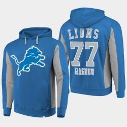 Fanatics Detroit Lions Branded Hommes 77 Frank Ragnow équipe Iconic Sweat à capuche - Bleu