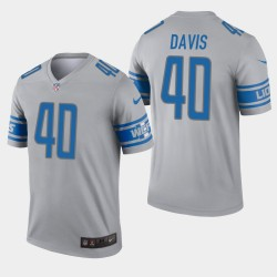 Detroit Lions 40 hommes Jarrad Davis Inverted Legend Jersey - Gris