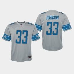 Lions Kerryon Johnson Inversé Jeu Jersey - Argent