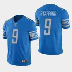 Detroit Lions Men 9 Matthew Stafford 100ème saison de vapeur Limited Jersey - Bleu clair