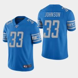 Detroit Lions 33 hommes Kerryon Johnson 100ème saison de vapeur Limited Jersey - Bleu clair