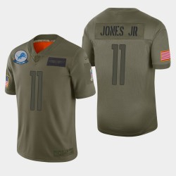 Detroit Lions 11 hommes Marvin Jones Jr 2019 Salut au service Camo Jersey limitée