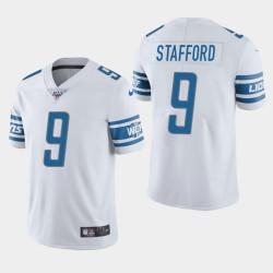 Detroit Lions Men 9 Matthew Stafford 100ème saison de vapeur Limited Jersey - Blanc