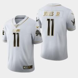 Hommes Detroit Lions 11 Marvin Jones Jr Saison 100 Golden Edition Jersey - Blanc