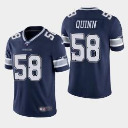 Cowboys de Dallas Hommes 58 Robert Quinn 100e saison Limited Jersey - Marine