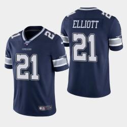 Cowboys de Dallas Hommes 21 Ezekiel Elliott 100ème saison Limited Jersey - Marine