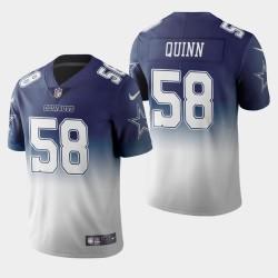 Dallas Cowboys 58 hommes Robert Quinn Couleur crash Gradient Navy Jersey