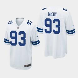 Dallas Cowboys 93 hommes Gerald McCoy jeu Jersey - Blanc