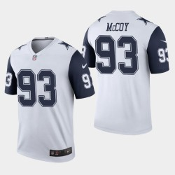 Cowboys de Dallas Hommes 93 Gerald McCoy couleur Rush Legend Jersey - Blanc