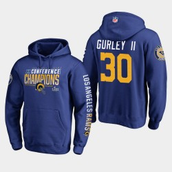 Rams Todd Gurley II 2018 Hoodie Pull Champions NFC - Royale