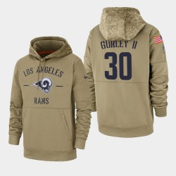 Todd Gurley II Men Rams de Los Angeles 2019 Salut au service Sideline Therma Sweat à capuche - Tan