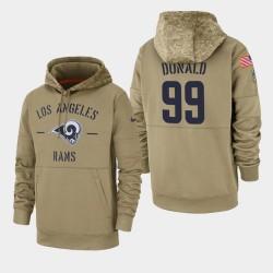 Los Angeles Rams Aaron Donald 2019 Salut au service Sideline Therma Hoodie - Tan