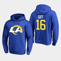 Los Angeles Rams Jared Goff 2020 Nouveau logo Sweat à capuche - royal