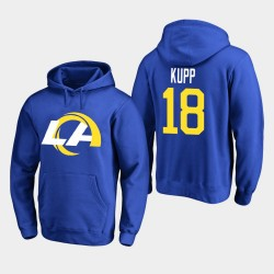 Rams de Los Angeles 18 hommes Cooper Kupp 2020 Nouveau logo Sweat à capuche - royal